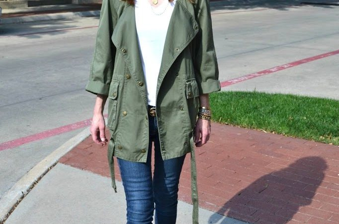 Current/Elliott Infantry Jacket Outfit Post
