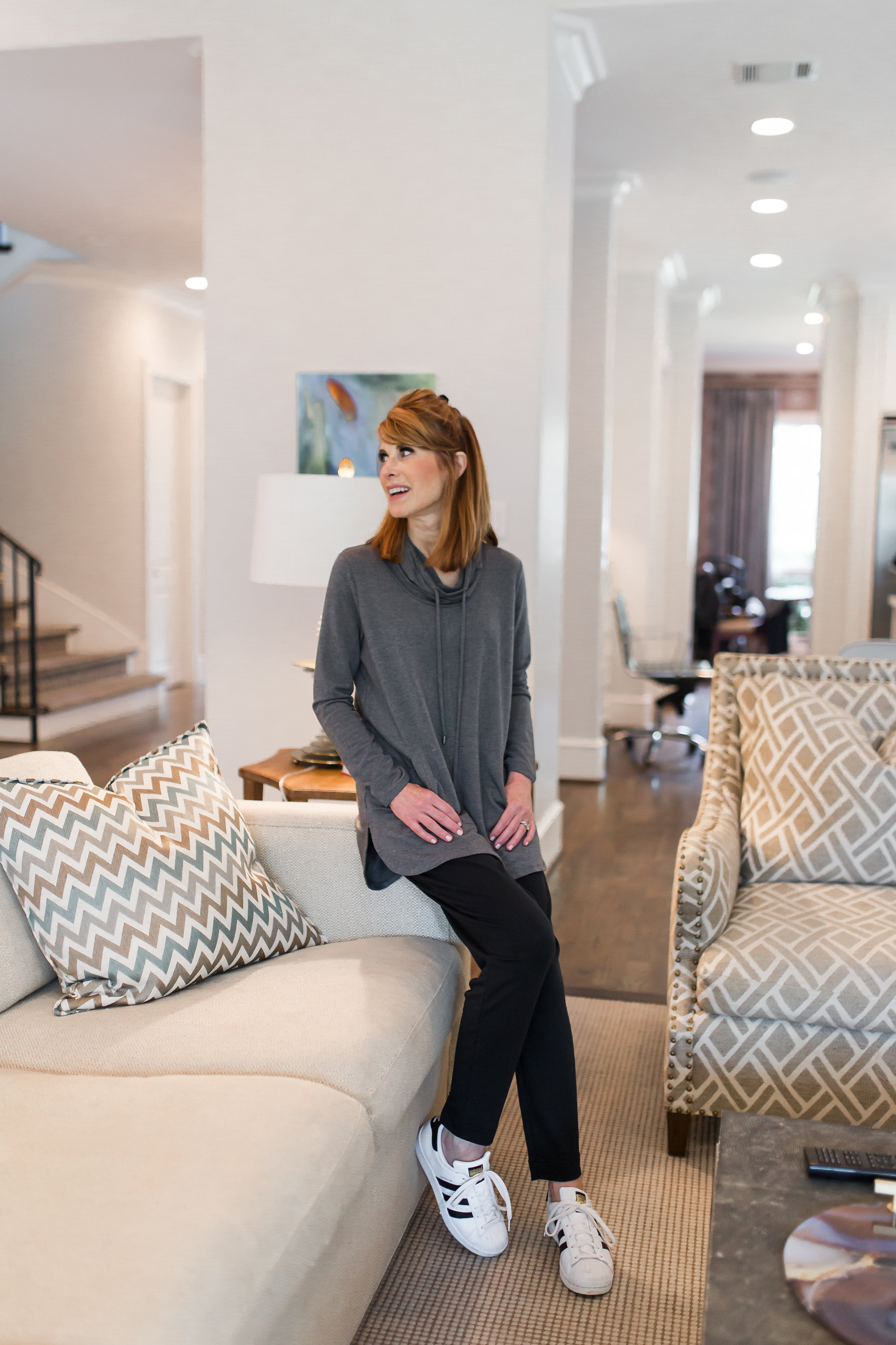 dallas fashion blogger- j.jill pure jill luxe tencel collection- hoodie and easy pant