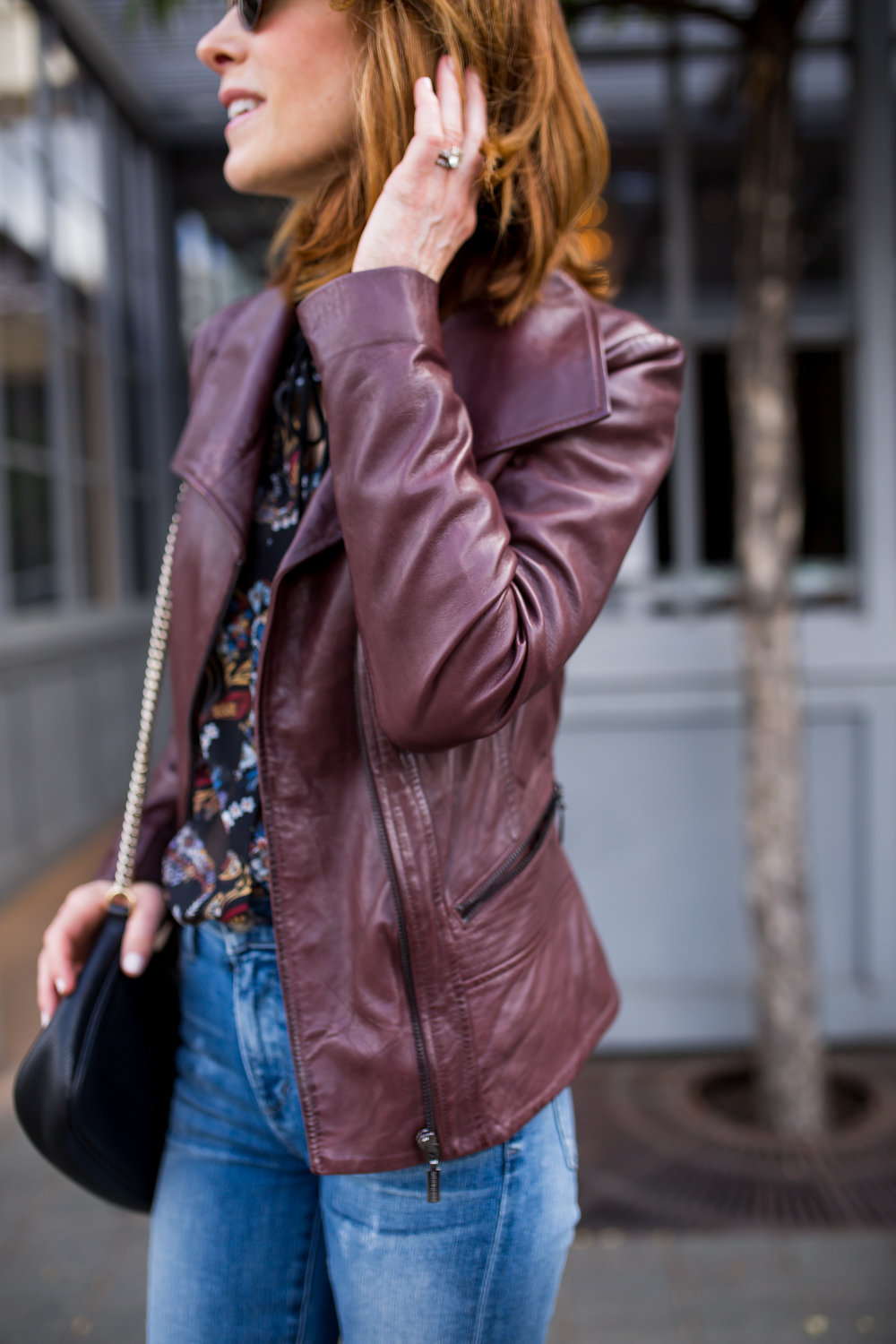 BERNARD LEATHER JACKET- NATURALIZER SUEDE BOOTIES- DALLAS FASHION BLOGGER