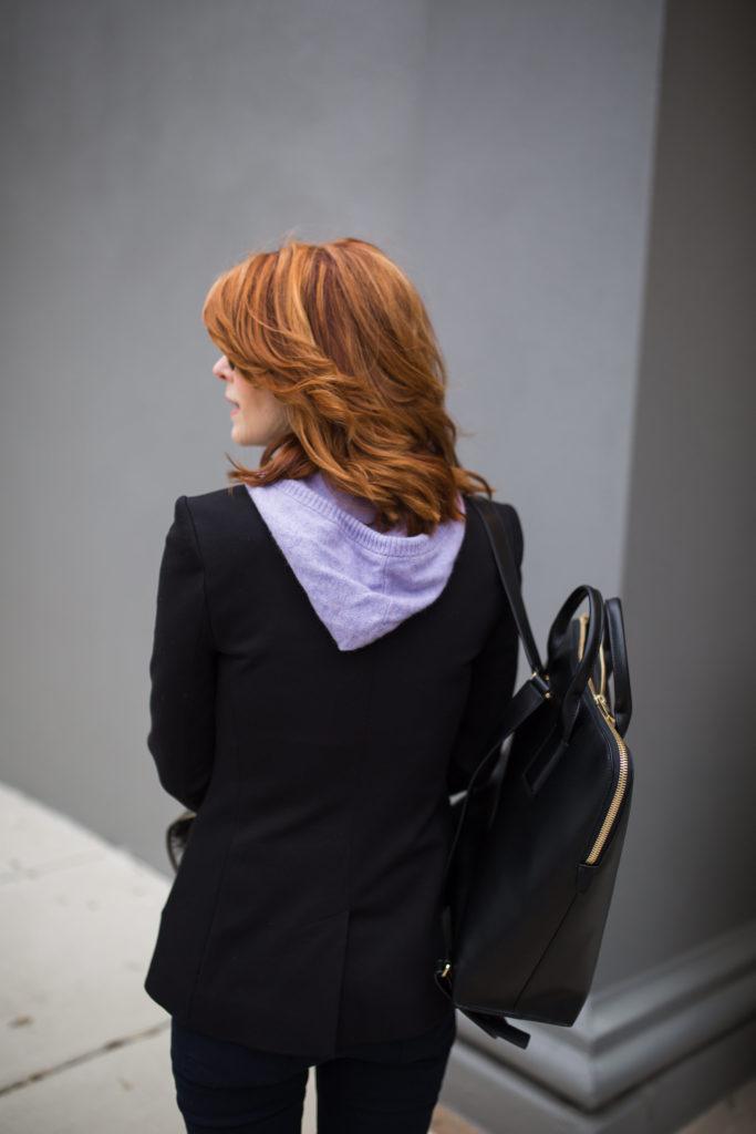 Veronica Beard Black Blazer- Blazer with Zip in Dickey- Blazer with Interchangeable Dickey