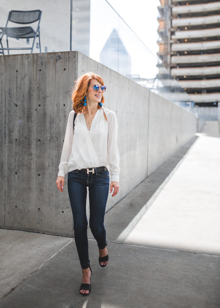 Cut out Top- Crossover Front- Dallas Fashion Bloggers