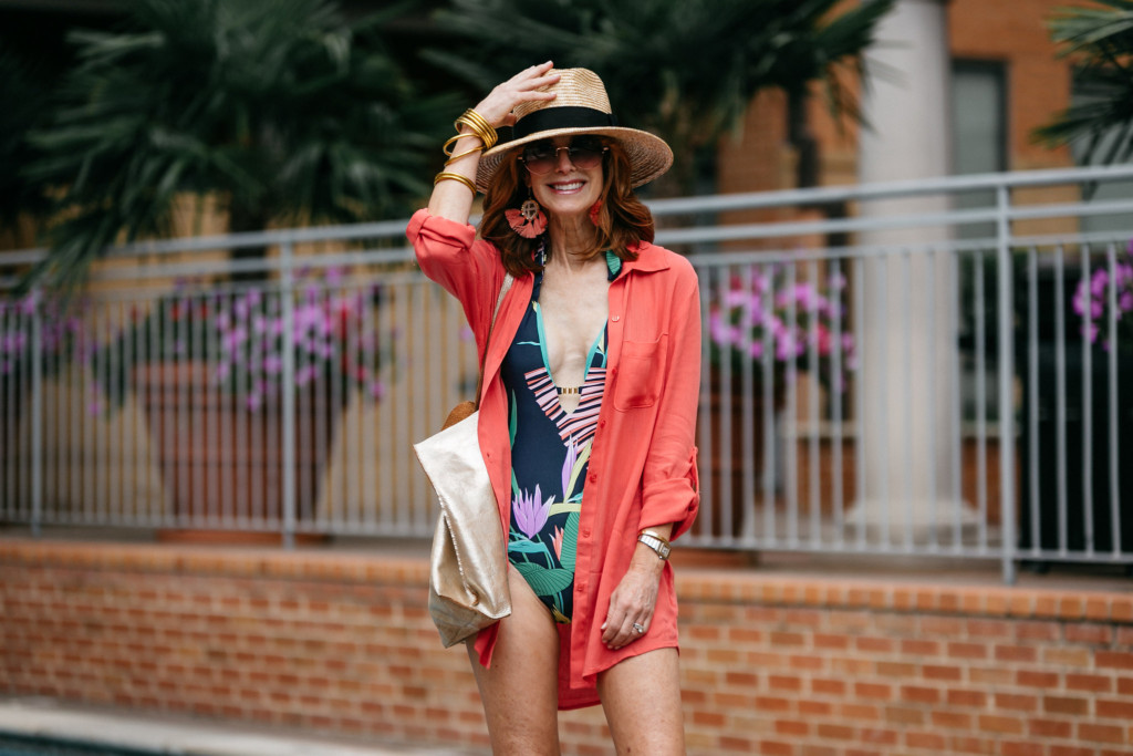 Cover-Up- Bathing Suit Cover-Up- Shirt Style Cover-Up