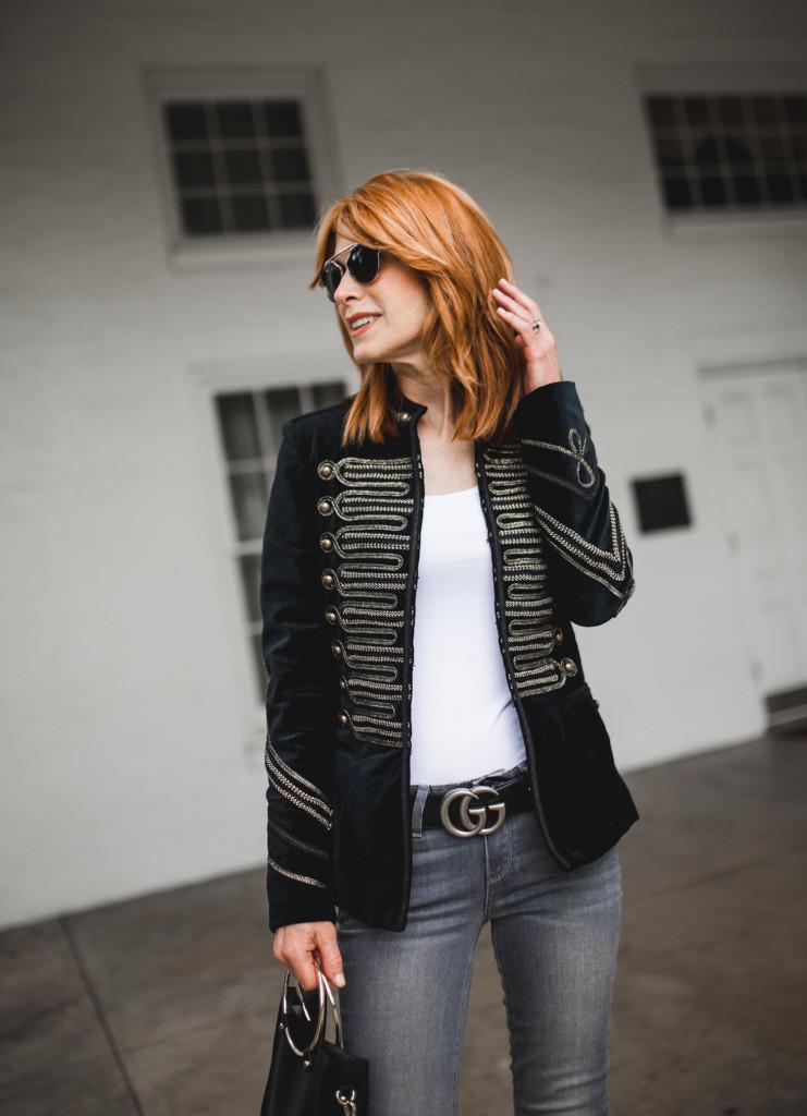 Black Velvet Band Jacket- Black Jacket- Band Style Jacket