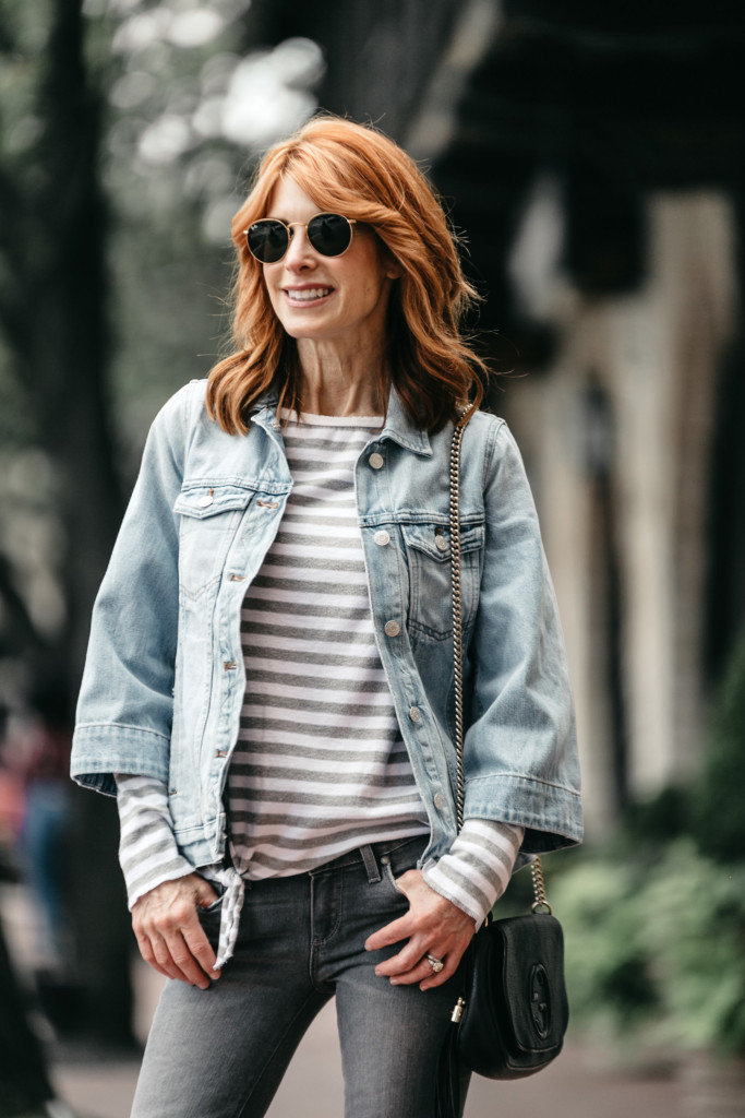 Madewell Bell Sleeve Denim Jacket- Light blue denim jacket- Chic at Every Age
