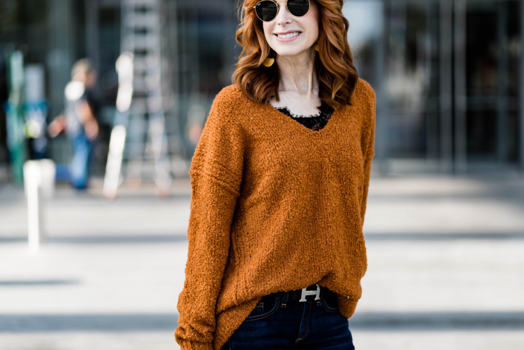 Oversized Sweater- Nubby Sweater- Chic at Every Age
