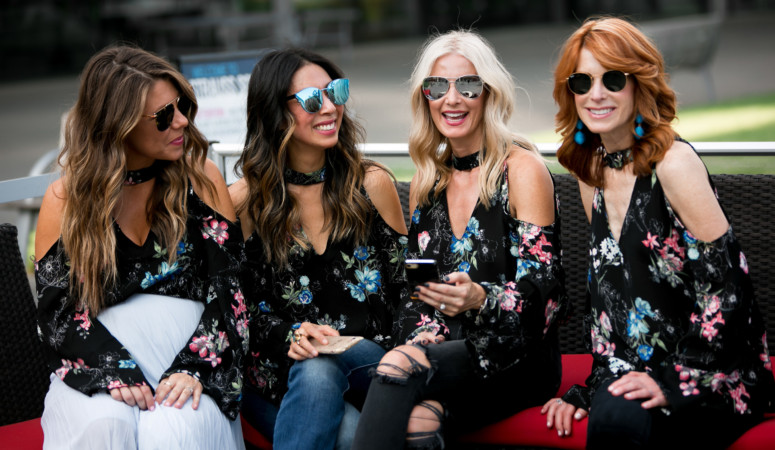 CHIC AT EVERY AGE FEATURING DARK FLORALS