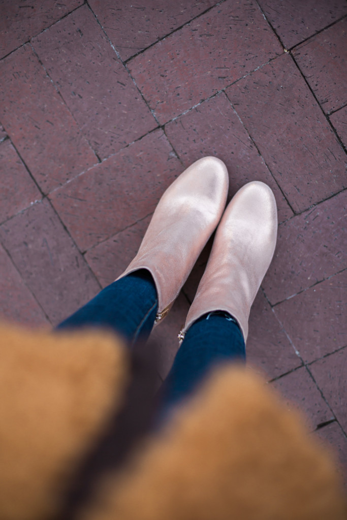 Taryn Rose Rosegold Booties- Taryn Rose Booties- The-Middle Page Rose Gold Booties