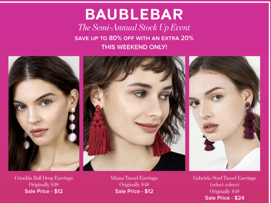 BaubleBar sale- Stripes- All things stripes