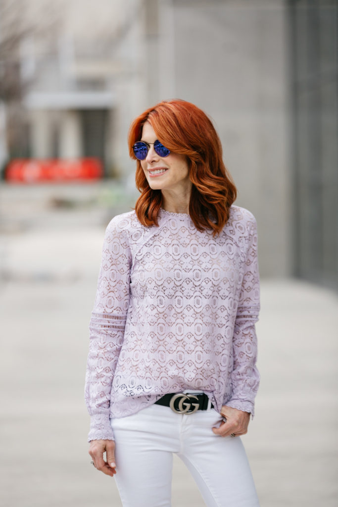 Lavender Lace Top- Lace Top- Chic at Every Age Lavender Lace Top
