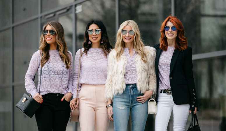 CHIC AT EVERY AGE // LAVENDER LACE TOP
