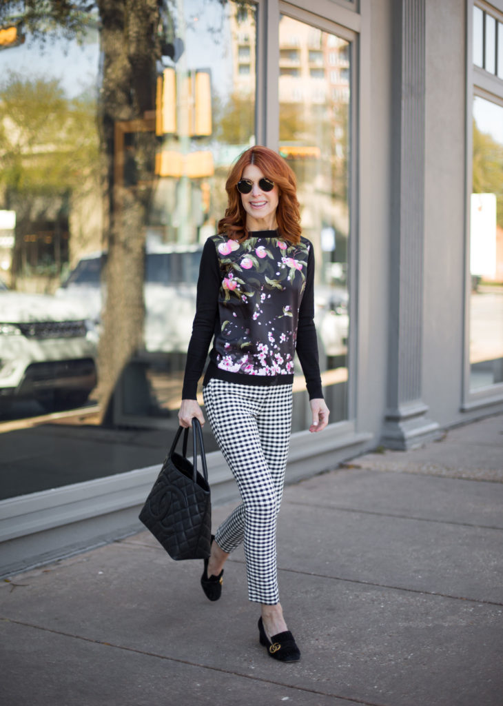 Black and White Check Pant