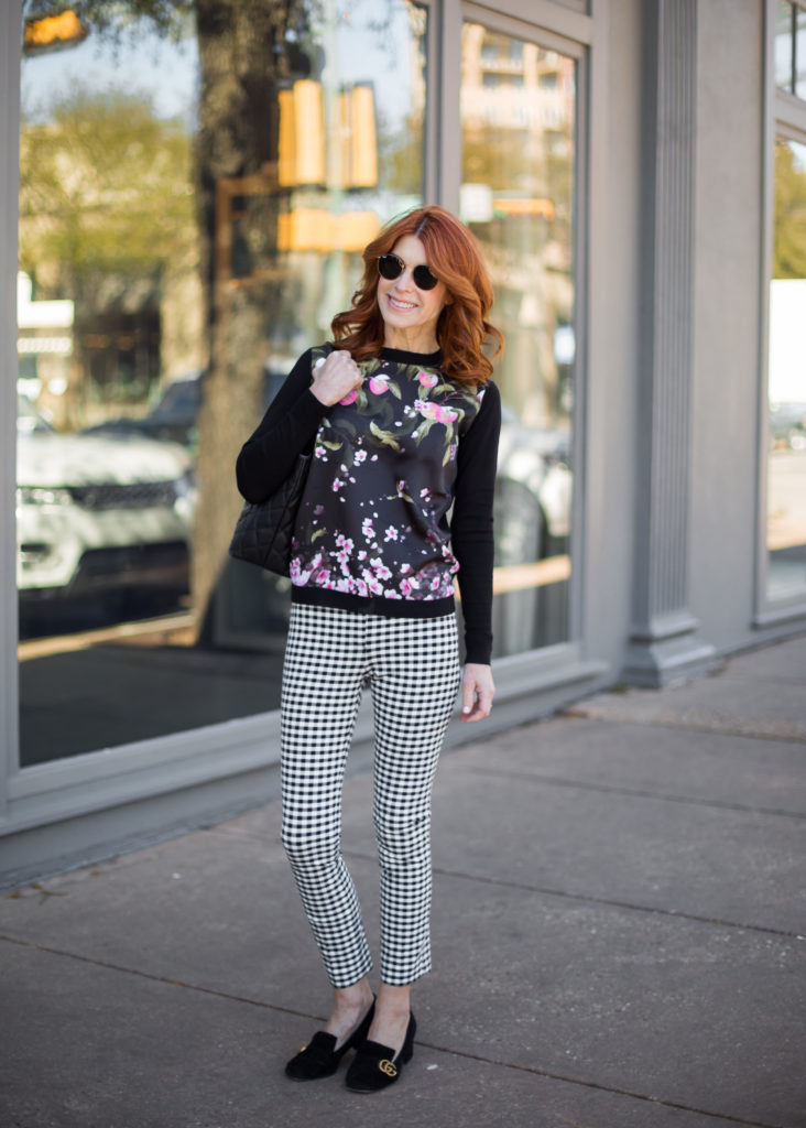 Black and White Check Pant on The Middle Page Blog