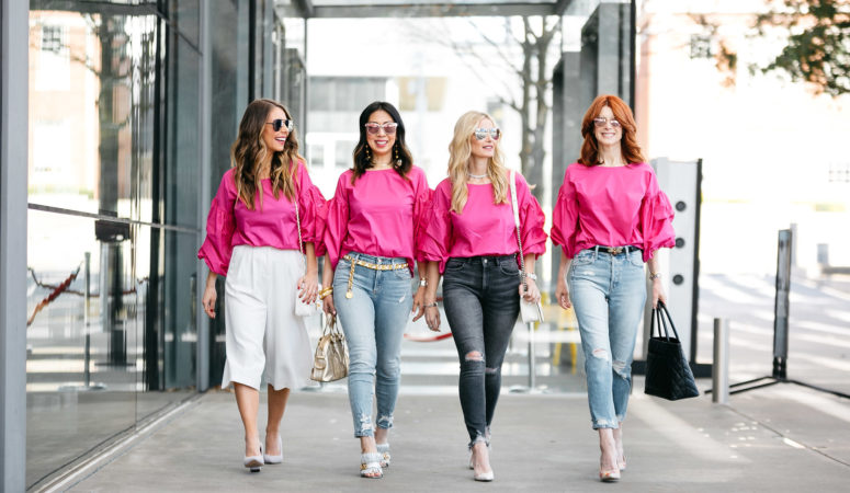 CHIC AT EVERY AGE FEATURING HOT PINK TOP