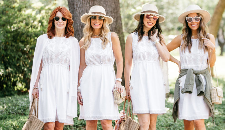J.JILL WHITE DRESS WITH CHIC AT EVERY AGE