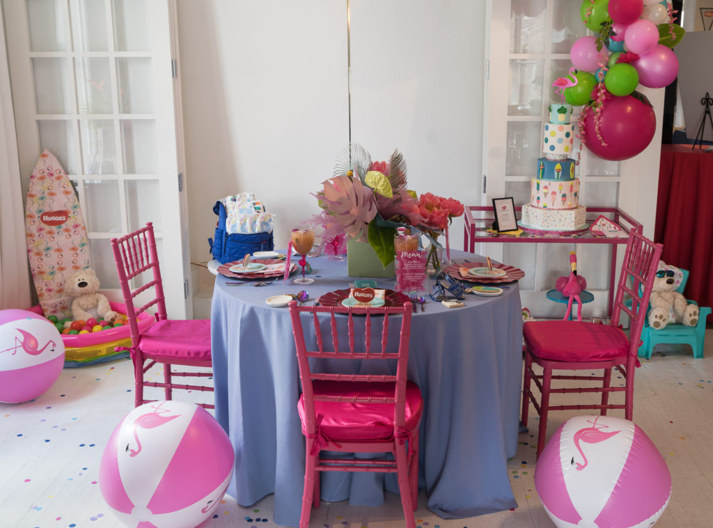 HUGGIES® MADE BY YOU™, This tablescape is for the Bright World diaper