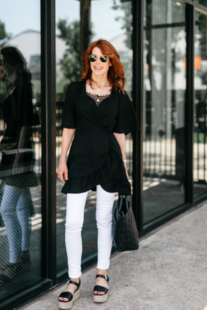 Chic at Every Age and a $55 Ruffle Wrap Dress