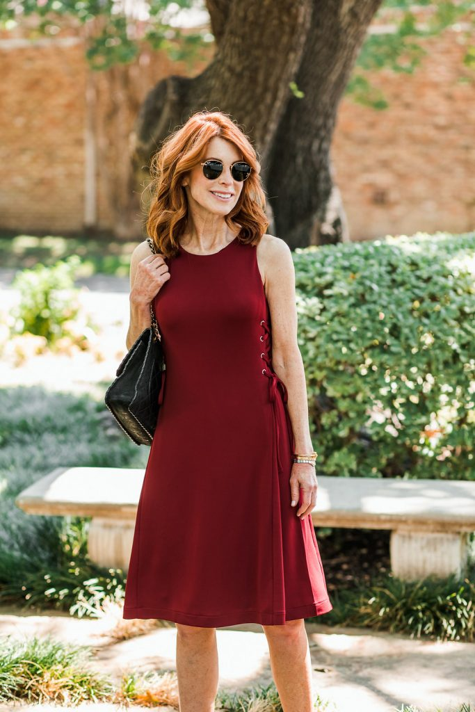 The cutest side-tie dress to wear now and into fall