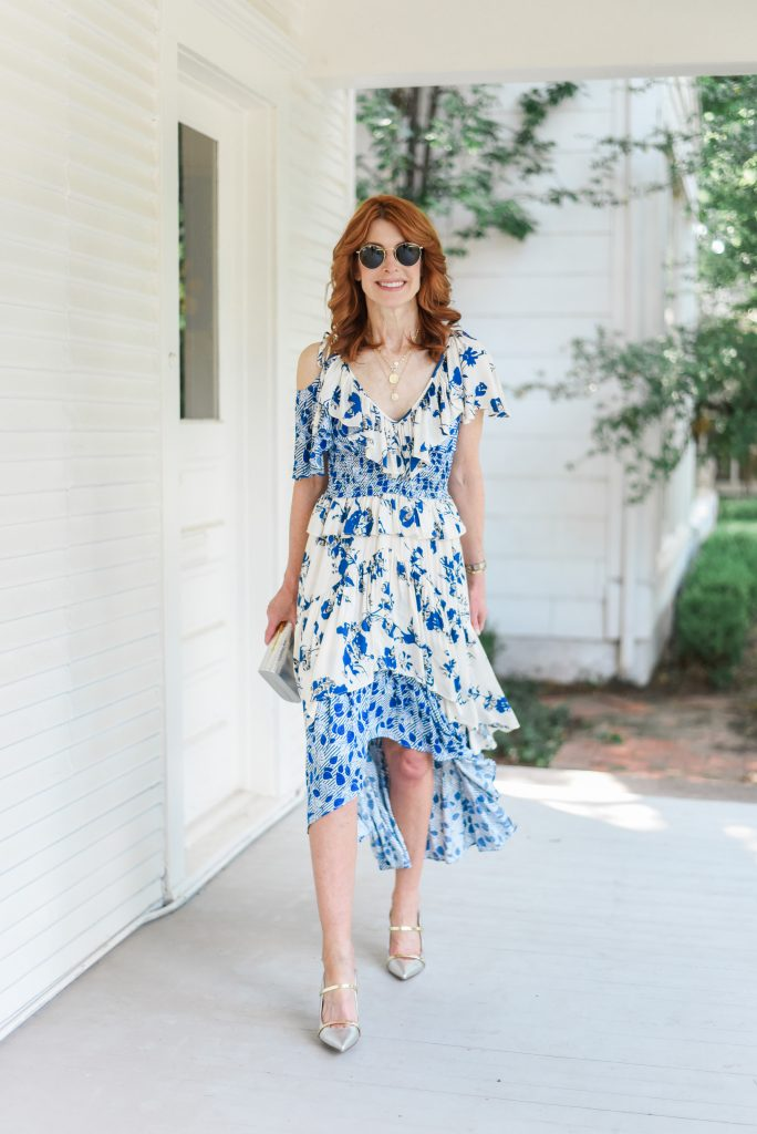 Blue and White Dress to Dress up or Down