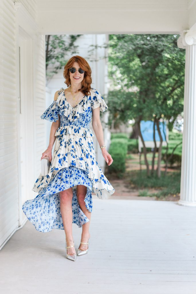 Blue and White Dress to Dress up or Down and $500 Nordstrom Giveaway