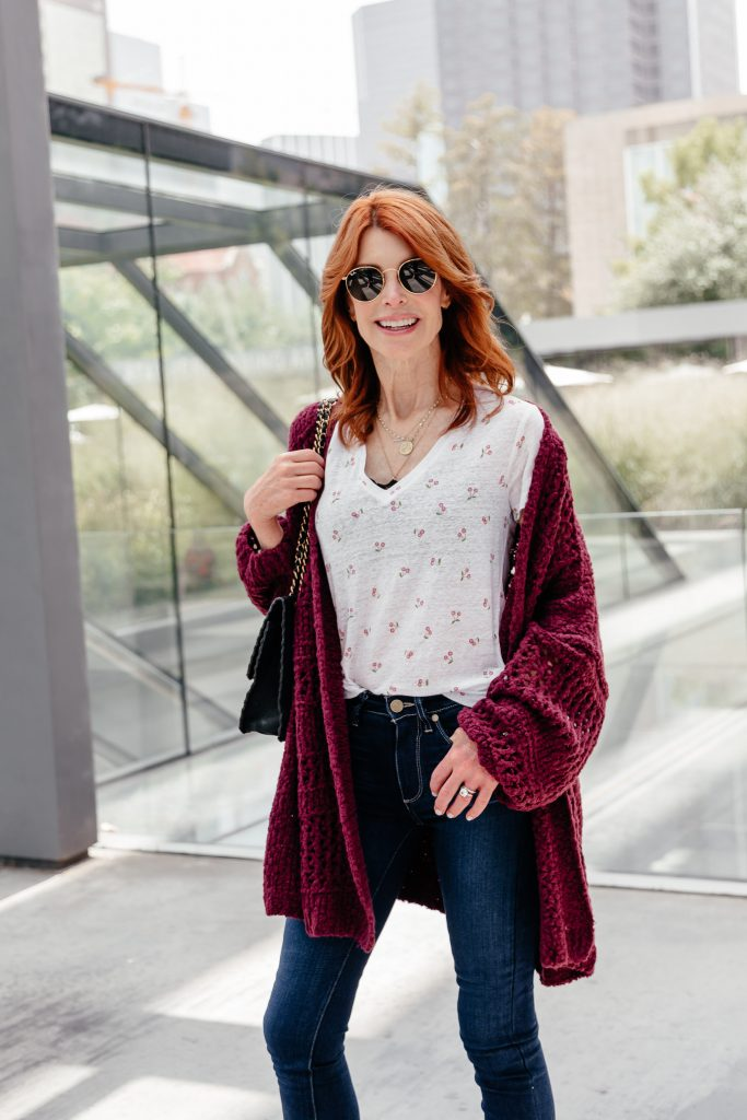 he Coziest Cardigan in the Nordstrom Sale worn by Chic at Every Age