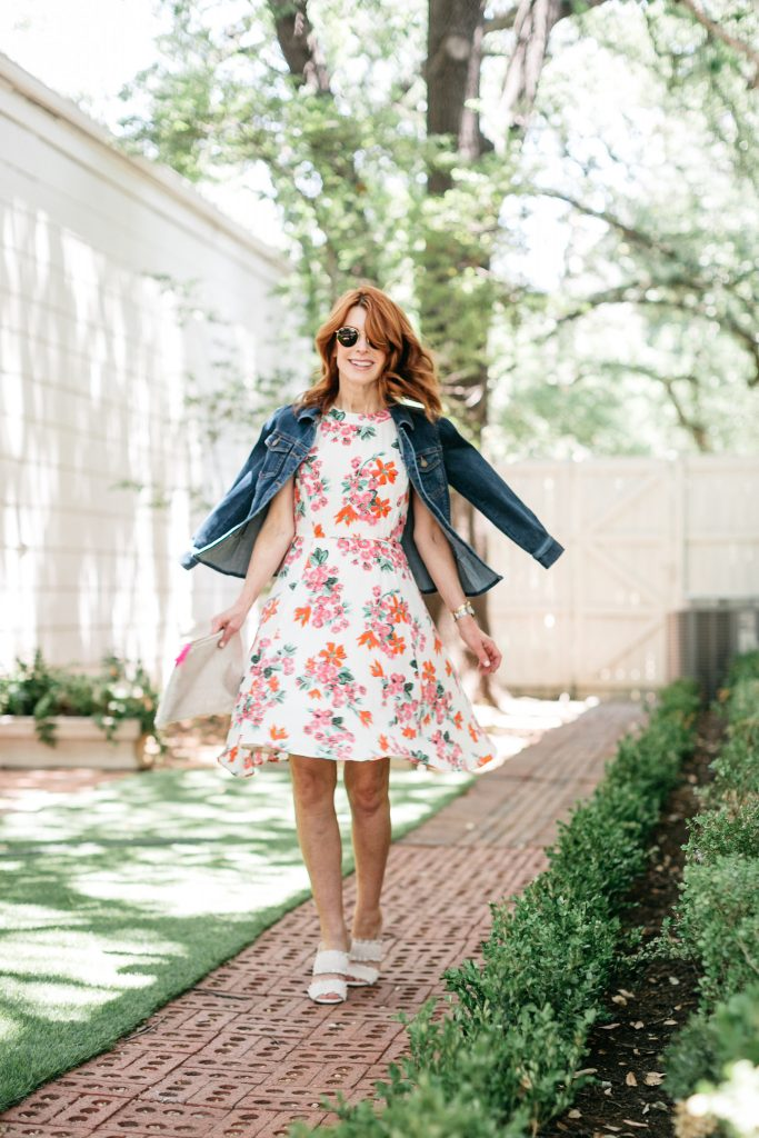 The Happiest Flirty and Floral Dress from Ann Taylor