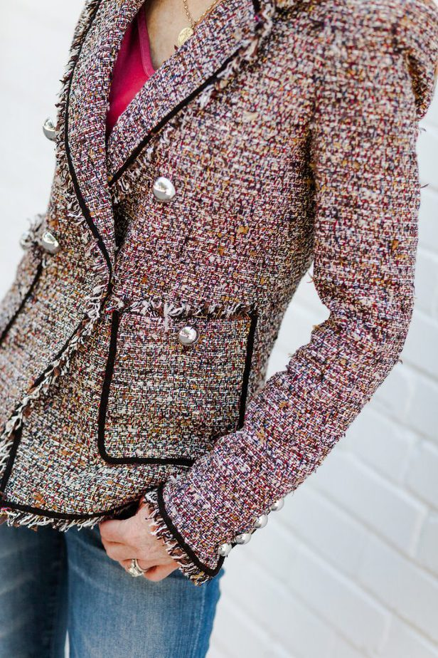 The Prettiest Tweed Blazer on The Middle Page