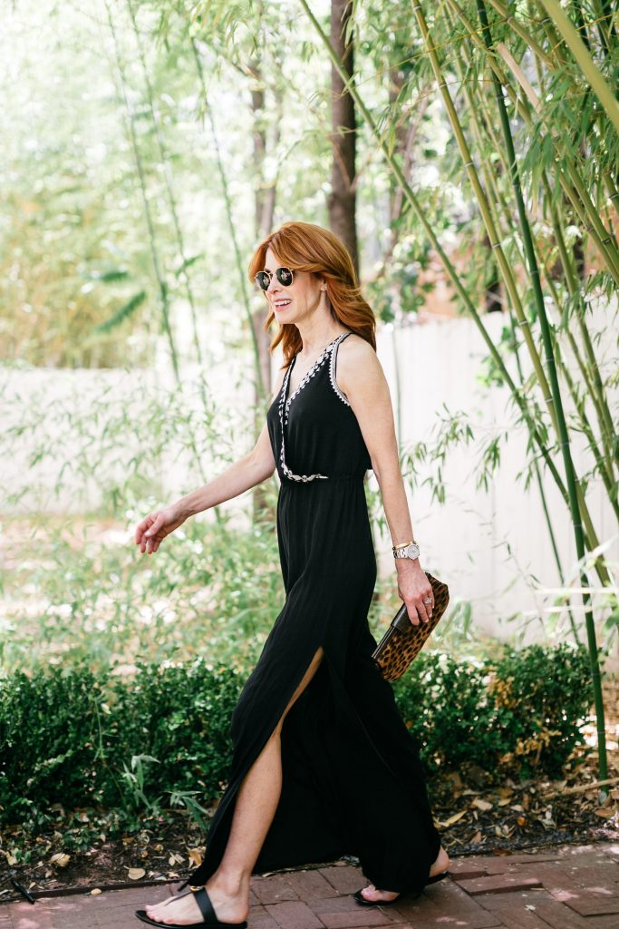 Chic at Every Age in Black Cross Front Jumpsuit