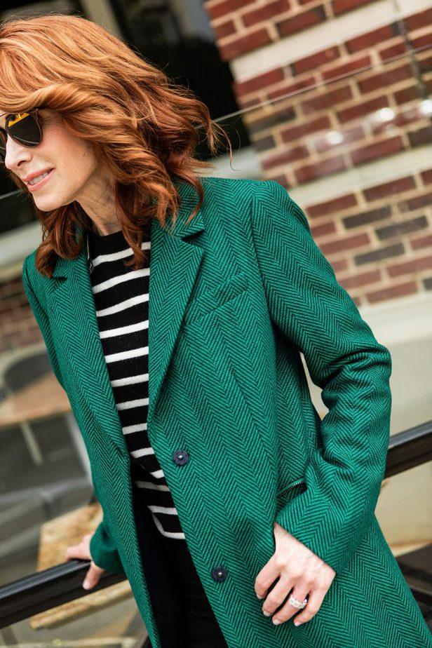 Gree Herringbone Coat -  Marks and Spencer