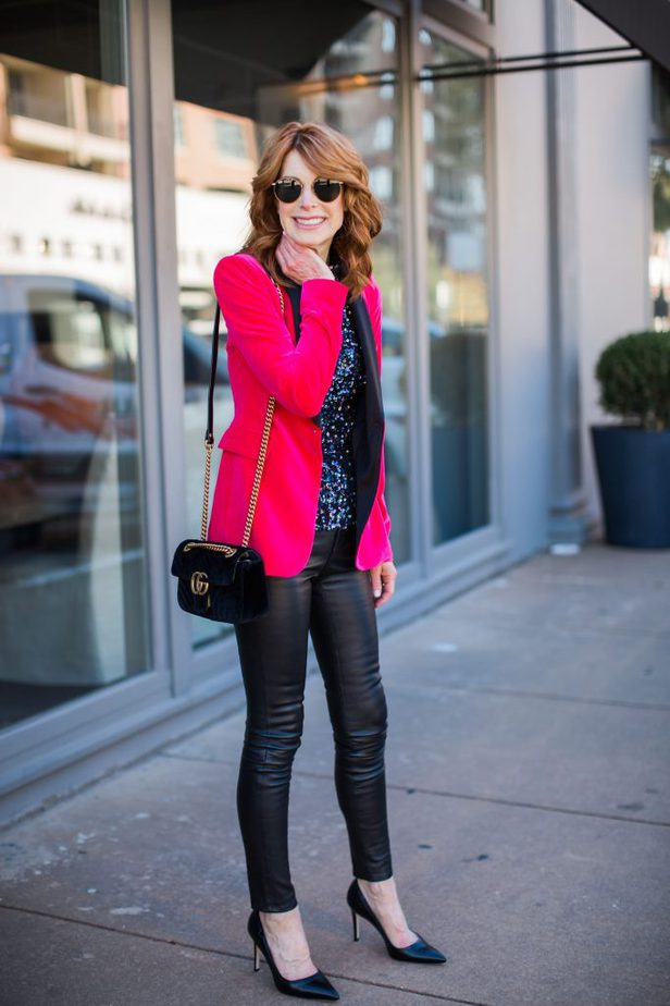 One Sequin Top Worn Two Ways