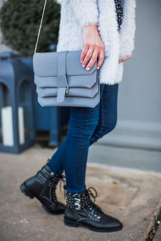 Gray Senreve Crossbody Bag