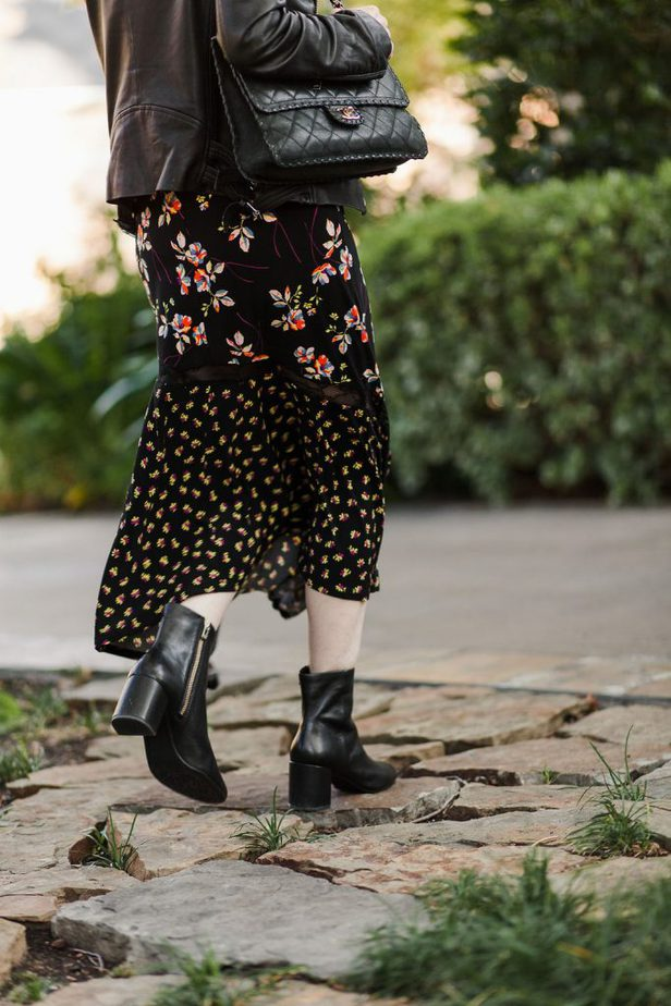 Black Classic Heel Leather Bootie from Taryn Rose