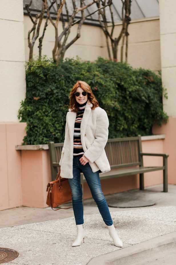 Winter White Faux Fur Teddy Jacket J.Crew