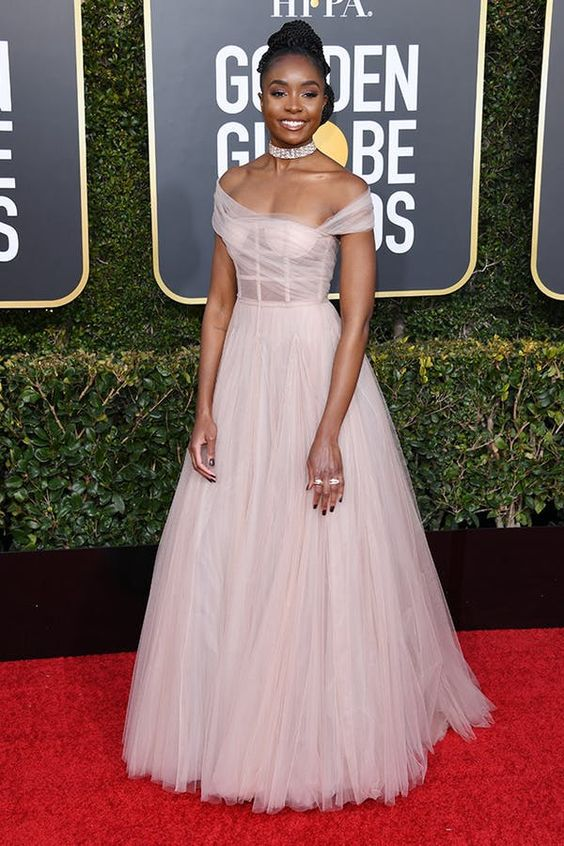 Honestly, I'm not sure who Kiki Layne is, but she is stunning in this soft pink tulle dress from Dior and think this was my favorite of the night.