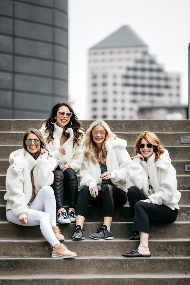White Fluffy Faux Fur Jackets with Chic at Every Age