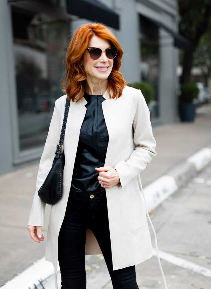 White and Black Winter Outfit