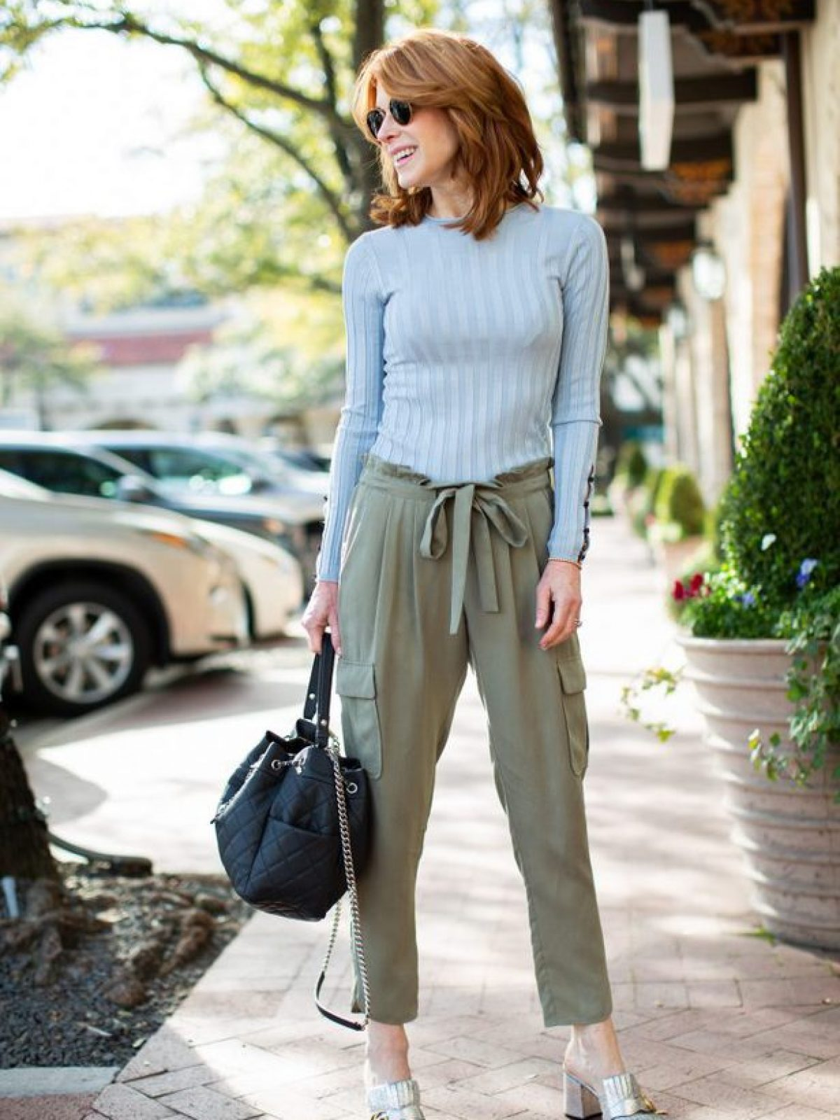 CHIC UTILITY STYLE PANTS