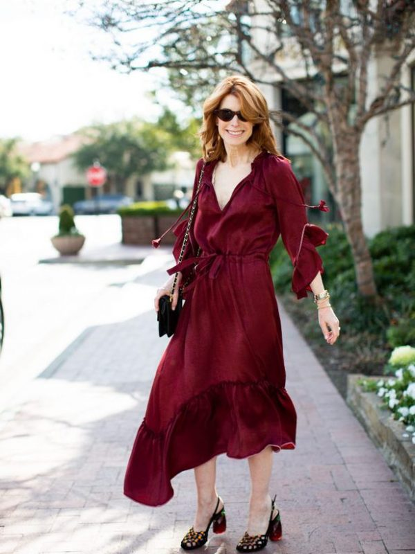 Wine Color Dress