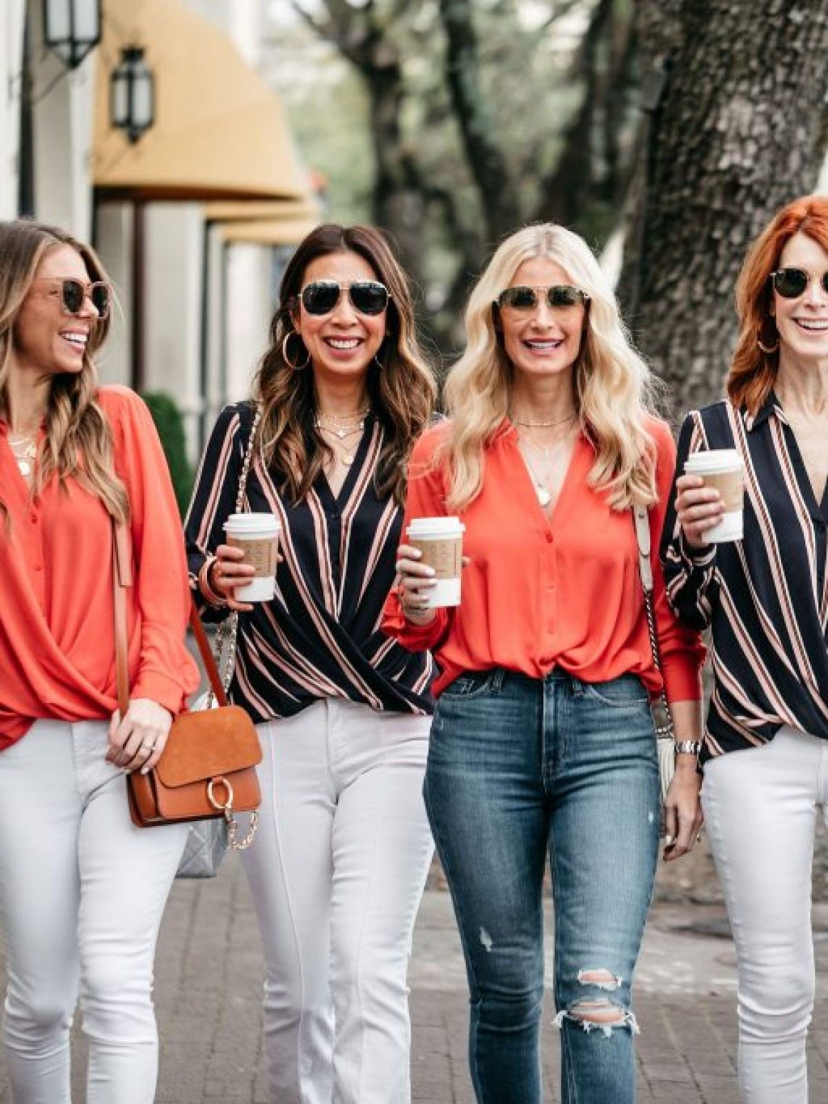 Chic at Every Age Showing Two Trends: Coral and Stripes
