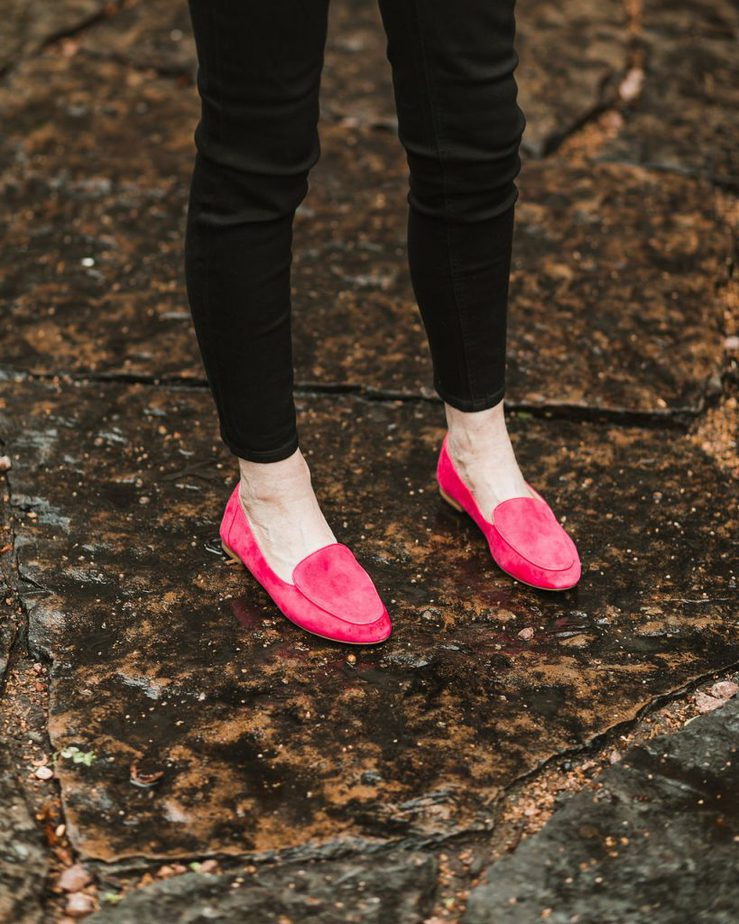 Black Jeans, and Pink Loafers