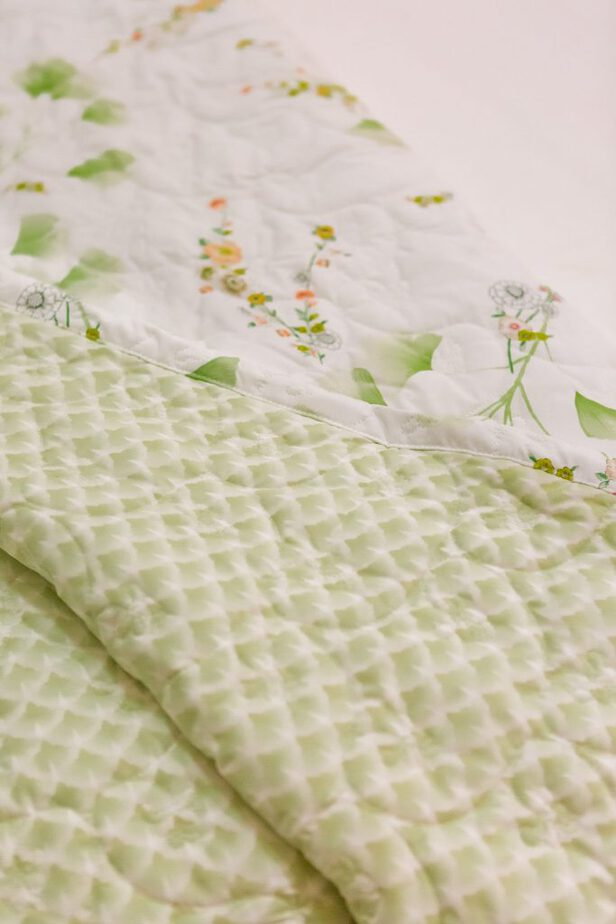 Yves Delorme Ginko Coverlet from Bloomingdale's