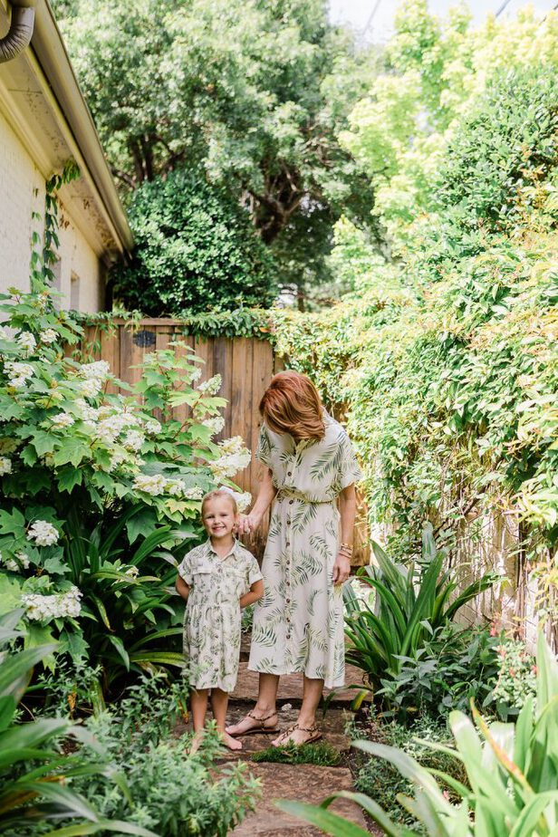 Welcome to the Jungle - Palm Leaf Print Dress with Matching Childs