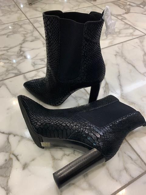 These are great black booties from Paige