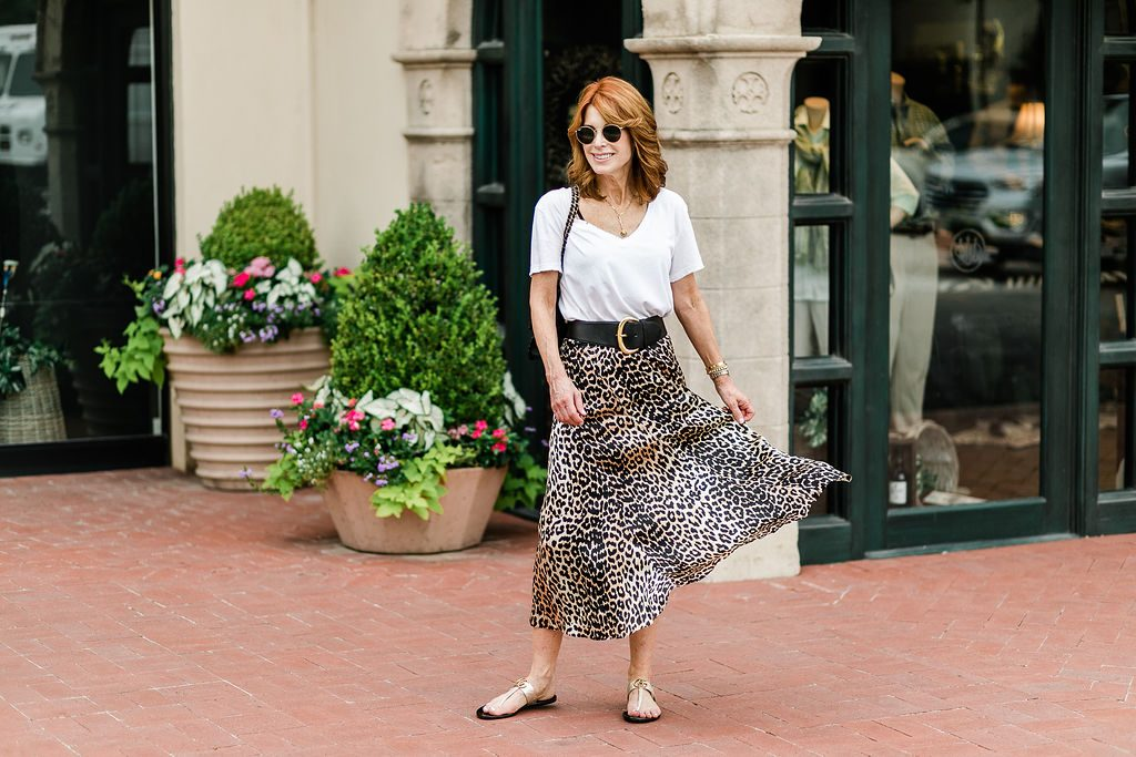 Preppy Leopard Print Skirt Featured