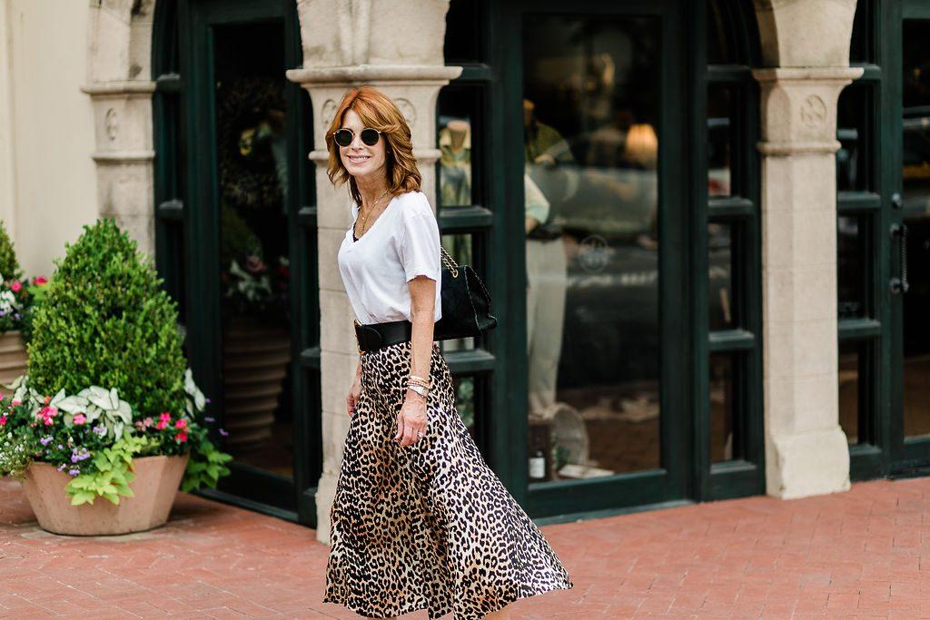 Preppy Leopard Print Skirt Featured