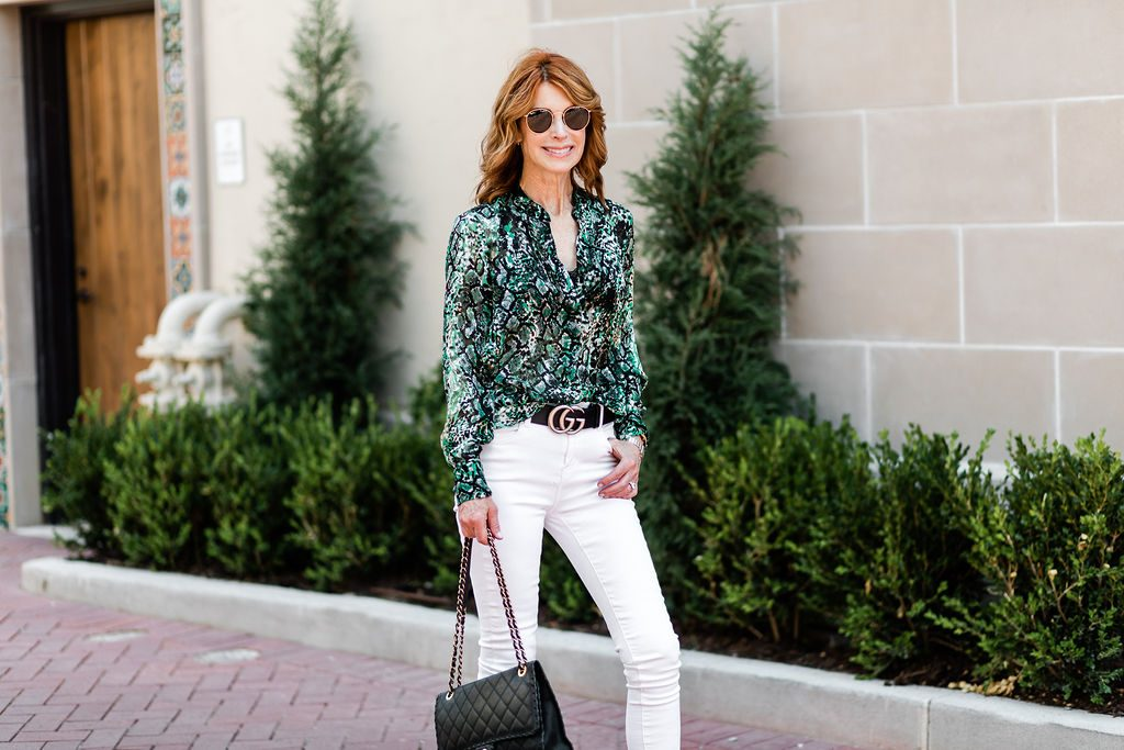 best snake print blouse by cathy