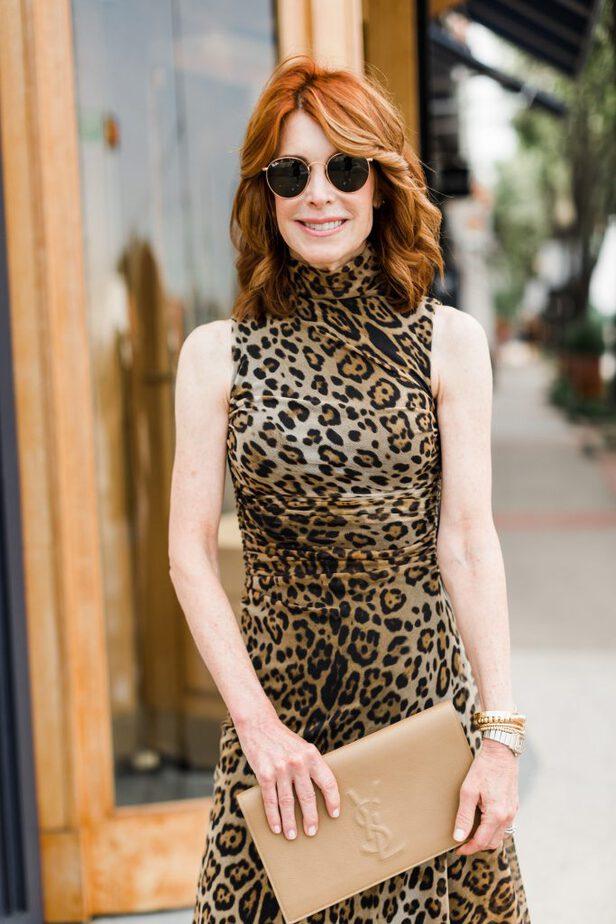 preppy leopard dress for fall