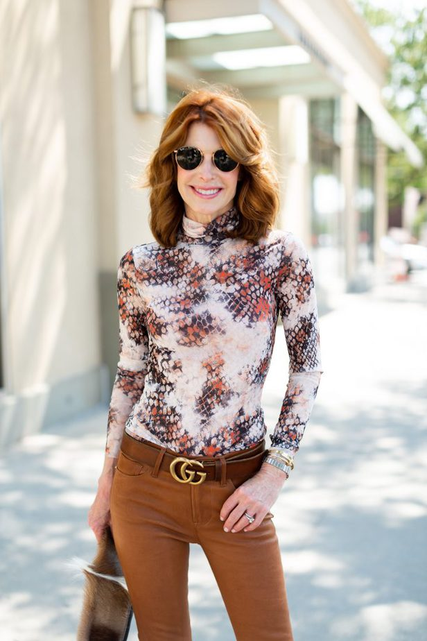 Leather Frame Jeans on Dallas Blogger