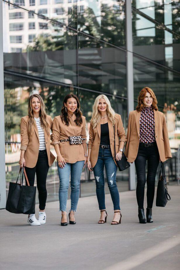 Dallas Bloggers Wearing Camel Blazer from JC Penny