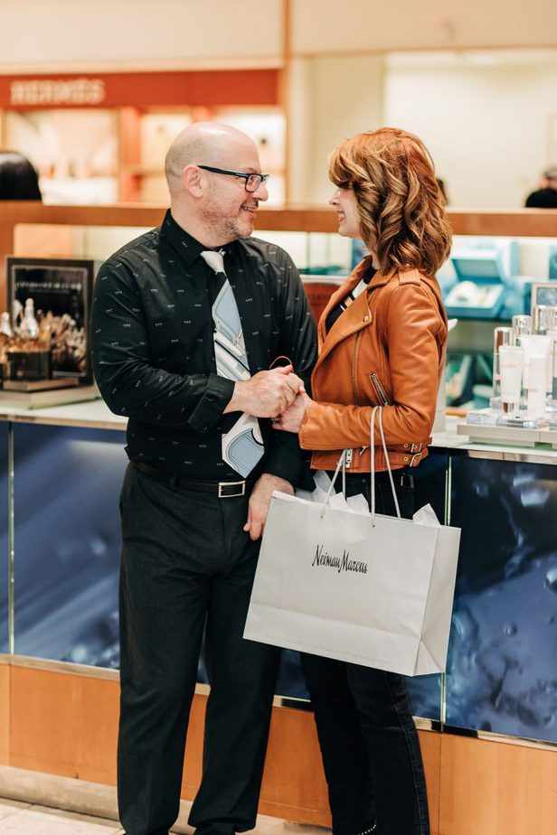 Dallas Blogger wearing jacket from Iro at Neiman Marcus