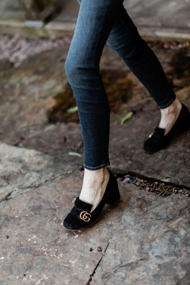 Gucci loafers worn by Dallas blogger